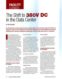 P.U.E. of a 380V DC Data Center